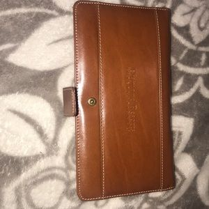 Brown leather business card holder